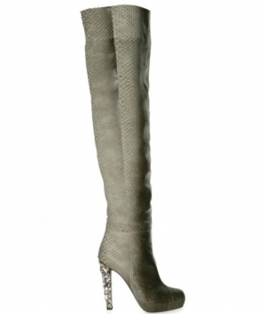 Special Order Jewelled Heel Python Boots